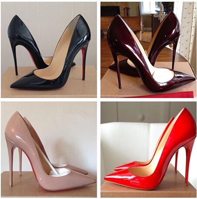 5d3d2947e97 Red Bottom High Heels Brand Pattern Leather Women Pumps Pointed Toe High Heels  Shoes Woman Plus Size 35-41