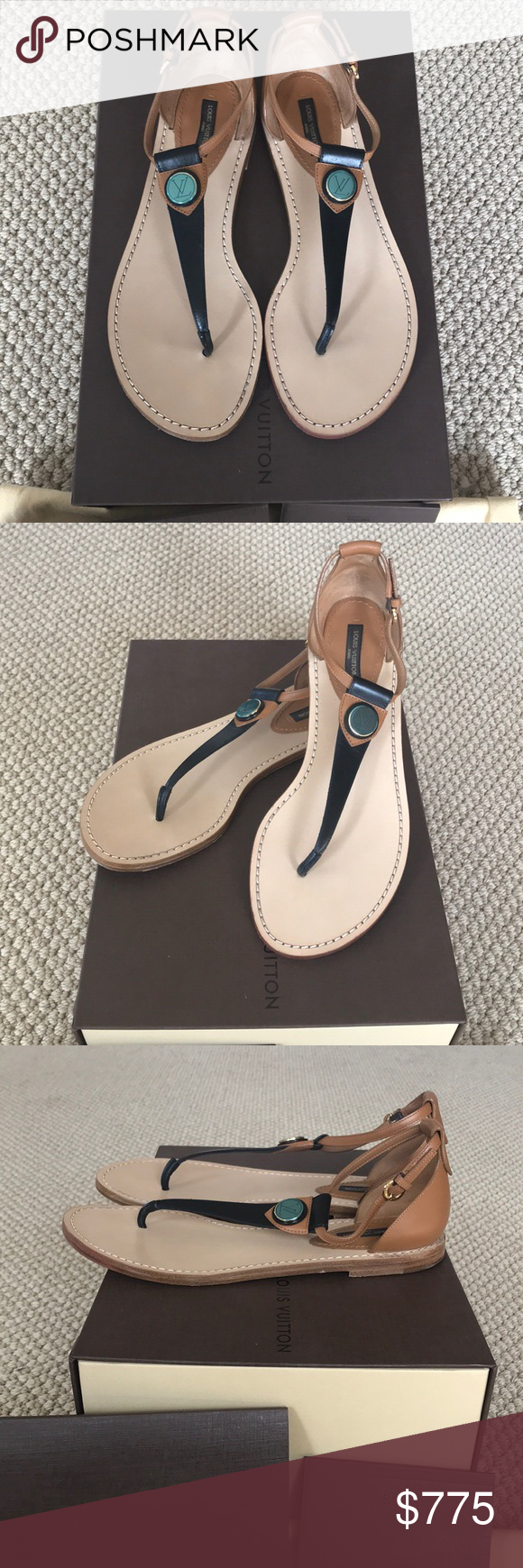 ace5db7f7b73 💯Authentic Louis Vuitton South Beach Sandal Beautiful sandal by Louis  Vuitton from Spring 2016. These are in mint condition....only worn a couple  times.