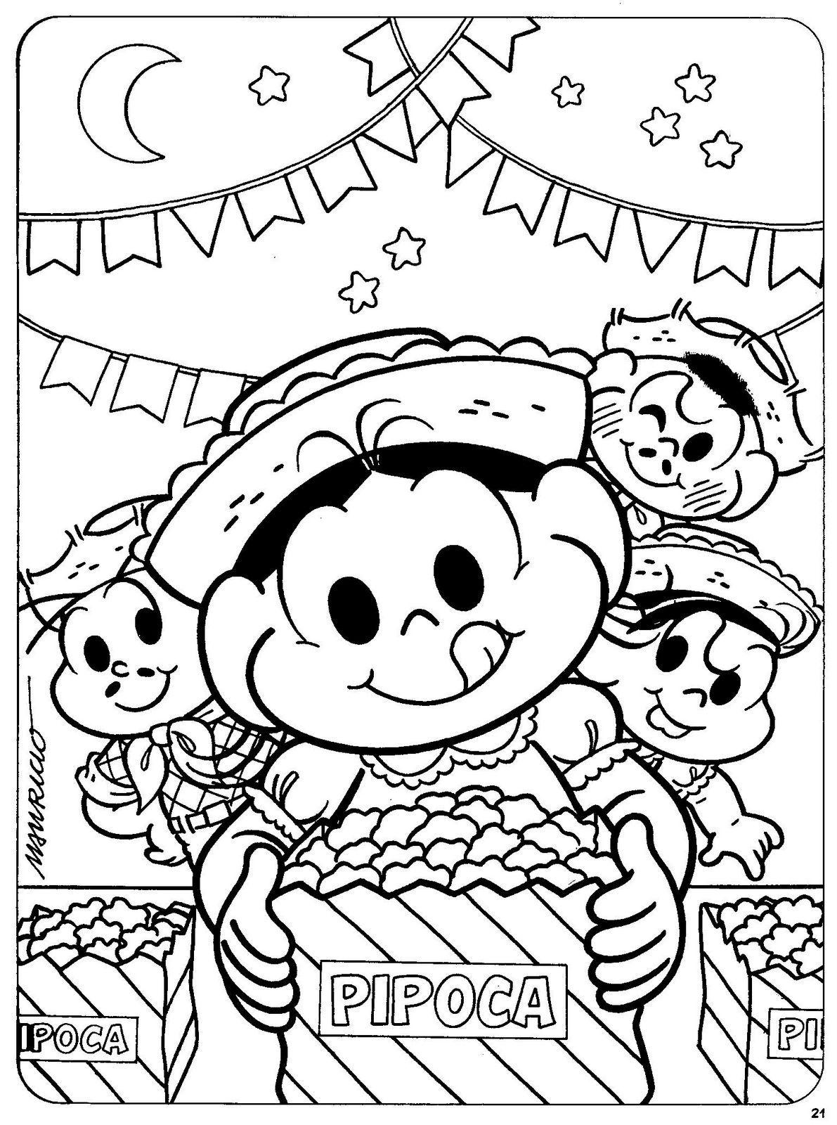 Desenhos Festa Junina Para Colorir Desenho Festa Junina Monica