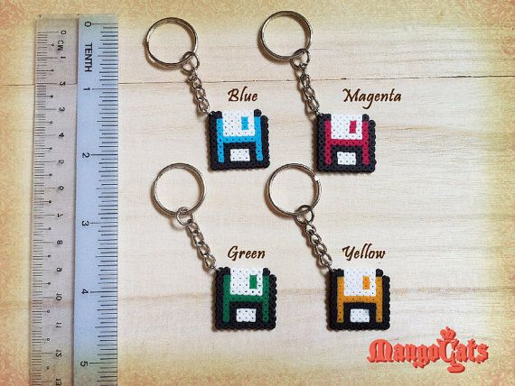 Diskette hama bead sprite by MangoCats on Etsy