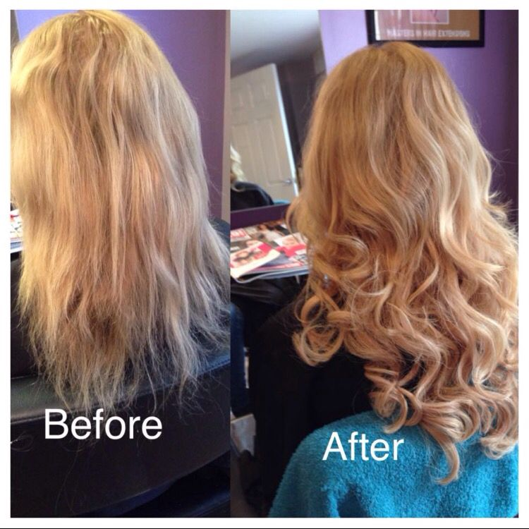 Blonde Great Lengths Hair Extensions Added For Thickness And Length
