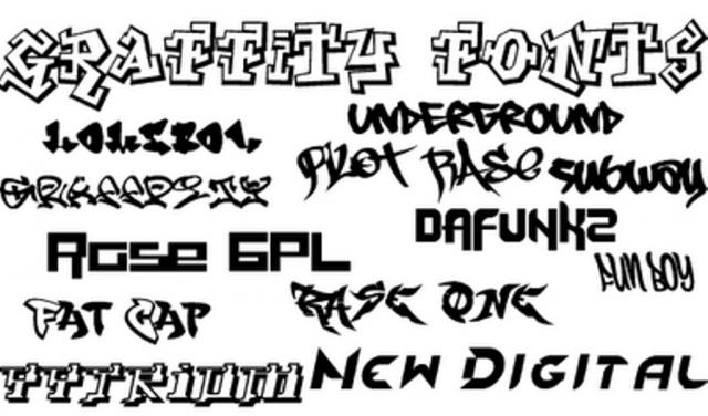 Cool Graffiti Fonts Sketches Picture3 Graffiti font