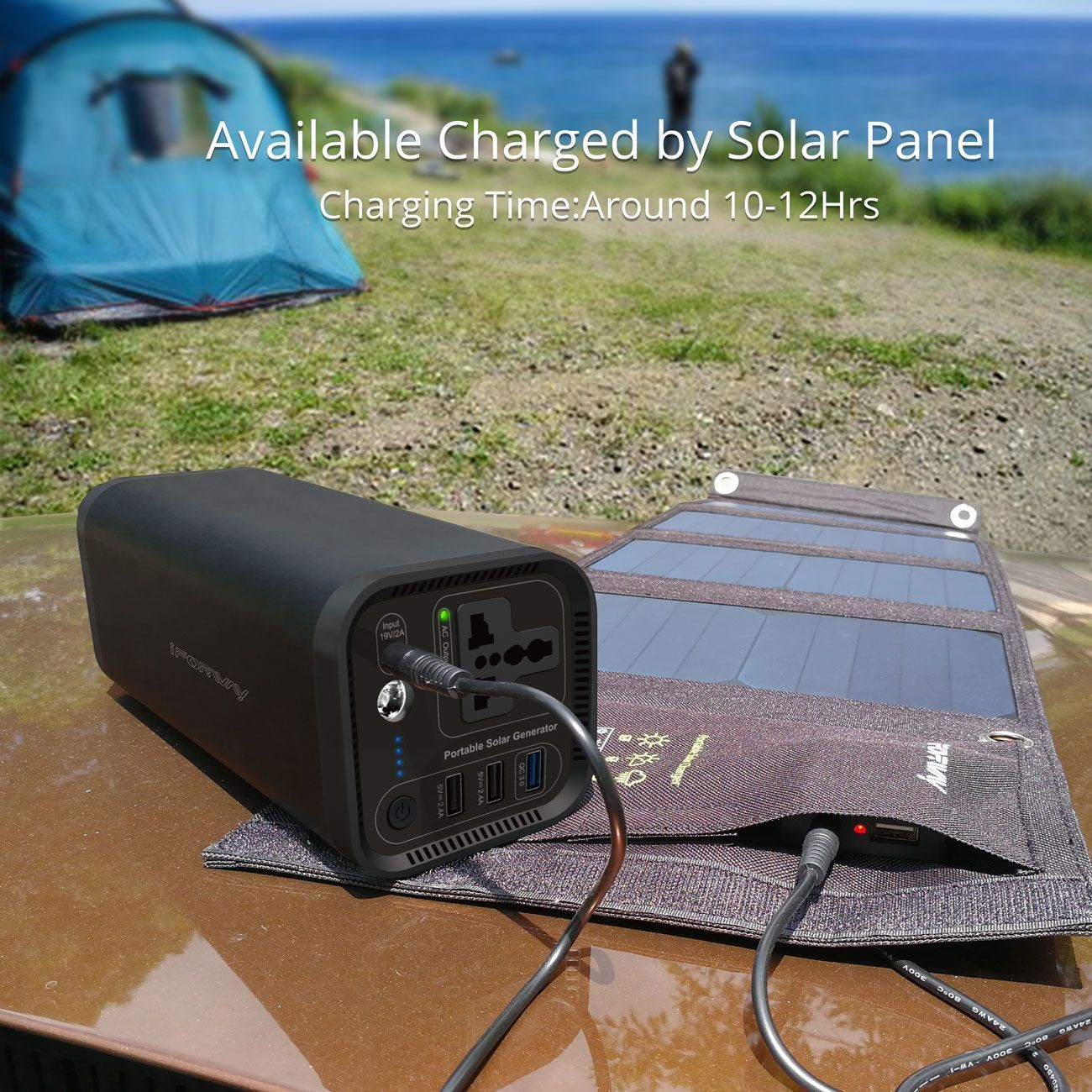 Where The Sun Is Where The Power Is Also Could Charge By Adapter Perfect Solarpowersystem With 4 Solar Panels Portable Solar Power Solar Power Diy