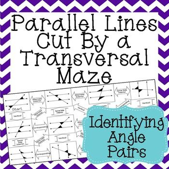 parallel lines cut by a transversal maze identifying angle pairs math students and interiors. Black Bedroom Furniture Sets. Home Design Ideas