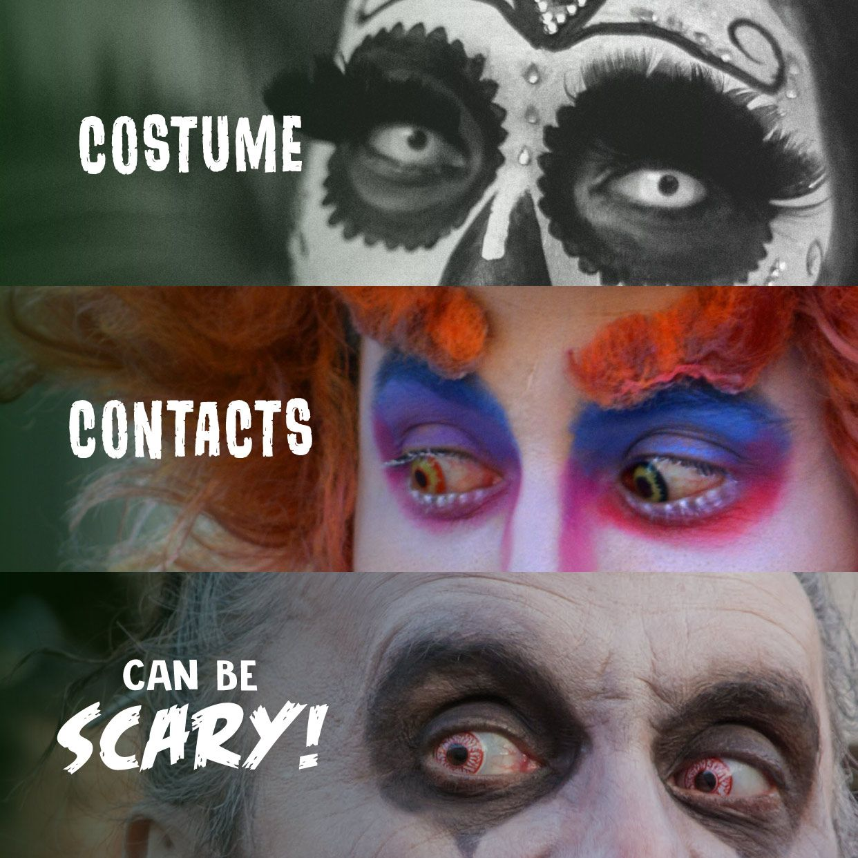 BE SAFE THIS HALLOWEEN! Stay Away From Contact Lenses