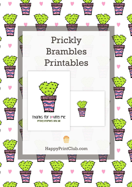 HappyPrintClub.com - Prickly Brambles Stationery Printables