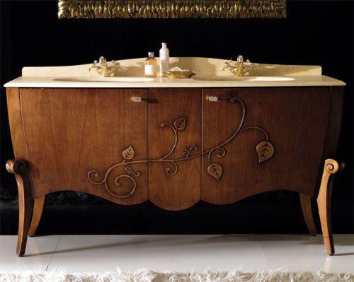 Italienische Badmöbel luxus badmoebel doppelt waschbecken unterschrank 163cm italienische