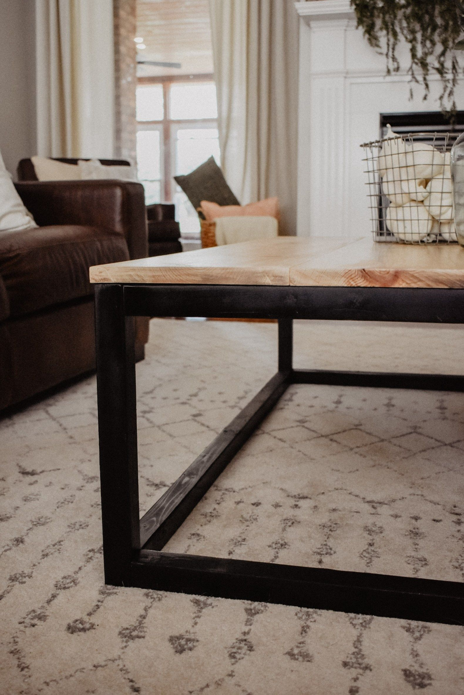 Diy Modern Industrial Coffee Table House On Longwood Lane Modern Industrial Coffee Table Coffee Table Center Table Living Room [ 2369 x 1580 Pixel ]