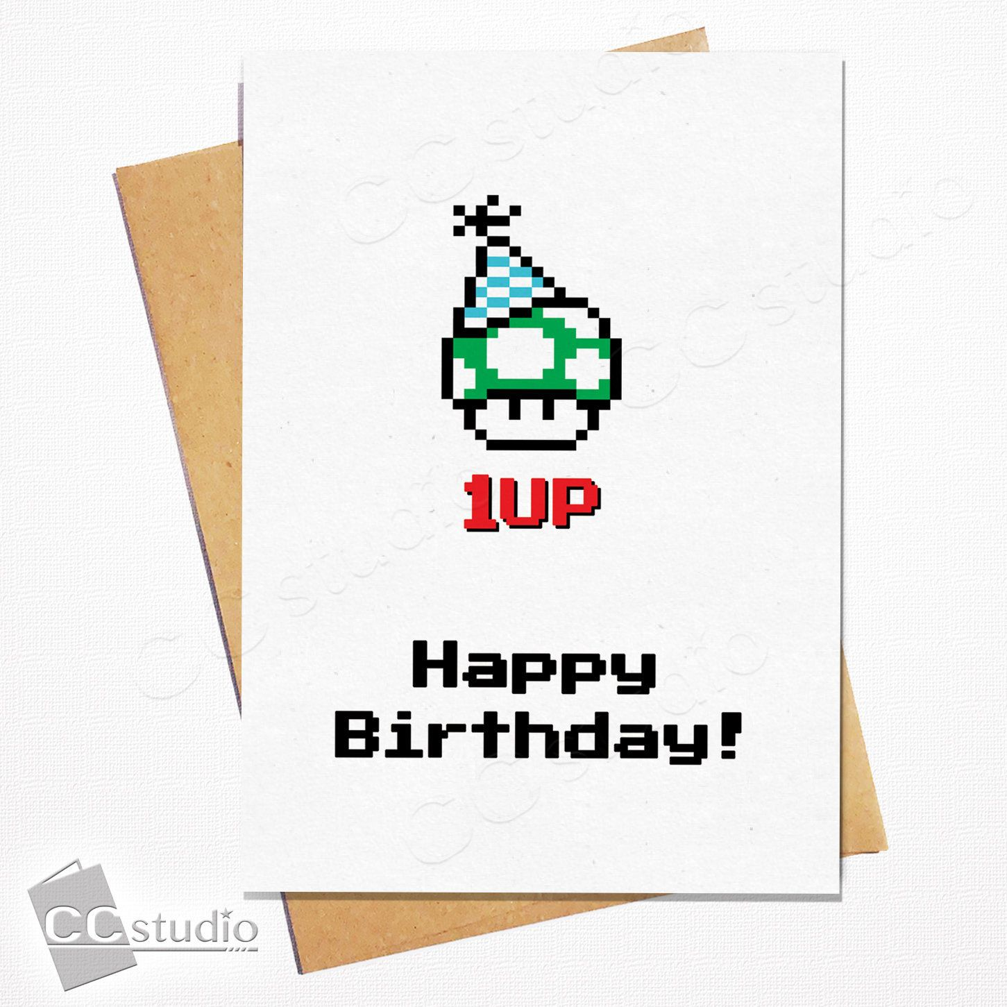 Nerdy Birthday Card Gamer Birthday Card Birthday Cards For Etsy In 2021 Happy Birthday Cards Printable Birthday Cards For Him Birthday Cards