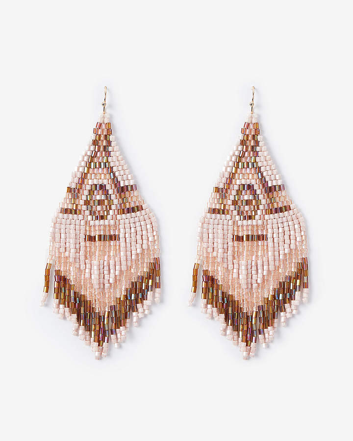 3f2c06052 Express Seed Bead Fringe Drop Earrings in 2019   Products   Earrings ...