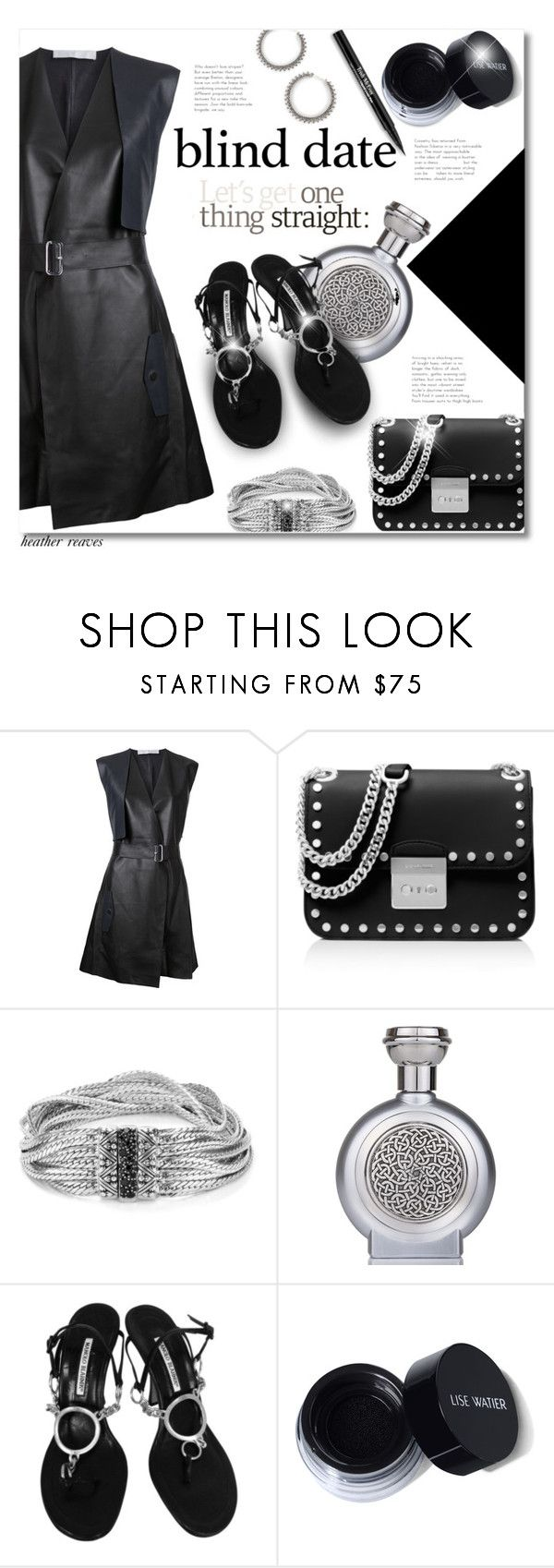 """""""Dress to Impress: Blind Date"""" by heather-reaves ❤ liked on Polyvore featuring Dion Lee, MICHAEL Michael Kors, Stephen Dweck, Boadicea the Victorious, Manolo Blahnik, Trish McEvoy and blinddate"""
