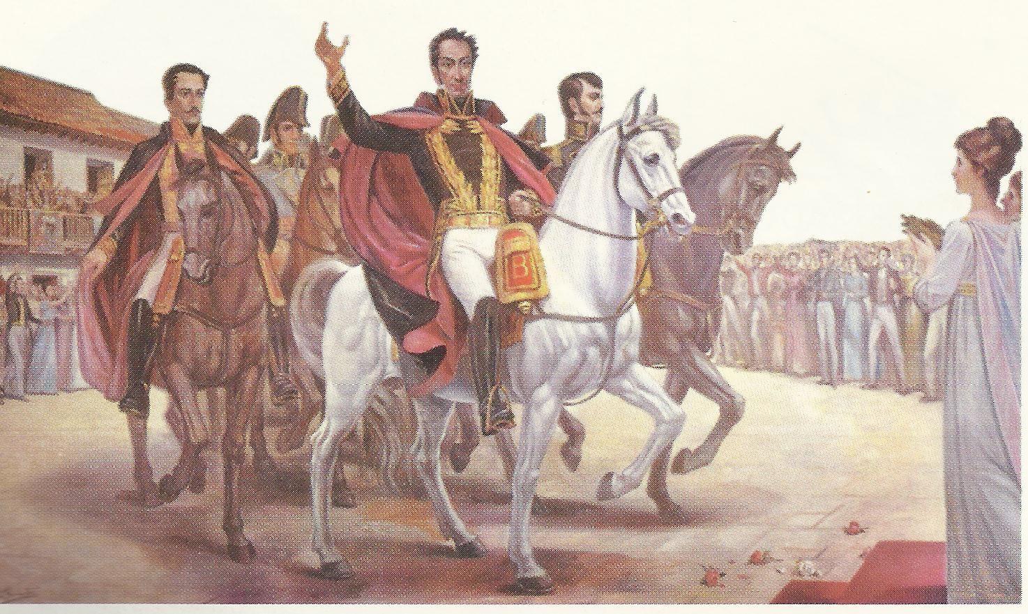 Resultado de imagen para Fotos 1819: En Santafé de Bogotá, entra triunfante Simón Bolívar.