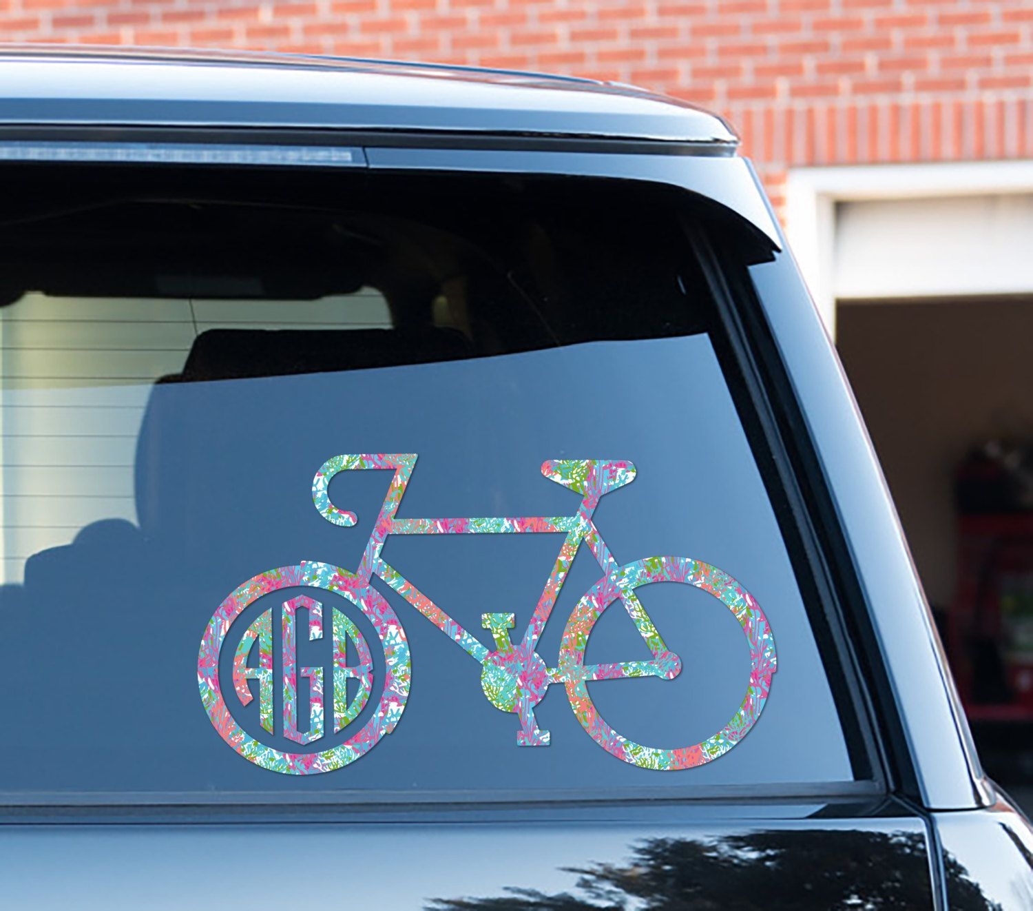 Bike Decal Custom Floral Car Decal Car Stickers Car Decor Cute Car Accessories Lilly Inspired Bicycle Cyclin Cute Car Accessories Cute Cars Sports Vinyl Decals [ 1322 x 1500 Pixel ]