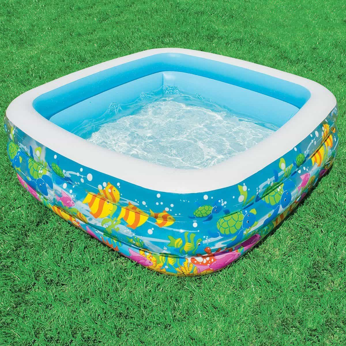 Easy Too Install Inflatable Swimming Pools Inflatable Lounge Pool Kids Aquarium Kiddie Pool
