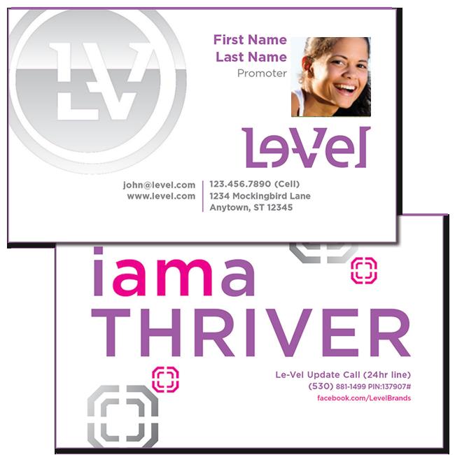 Le Vel I Am A Thriver Photo Upload Horizontal Business Card