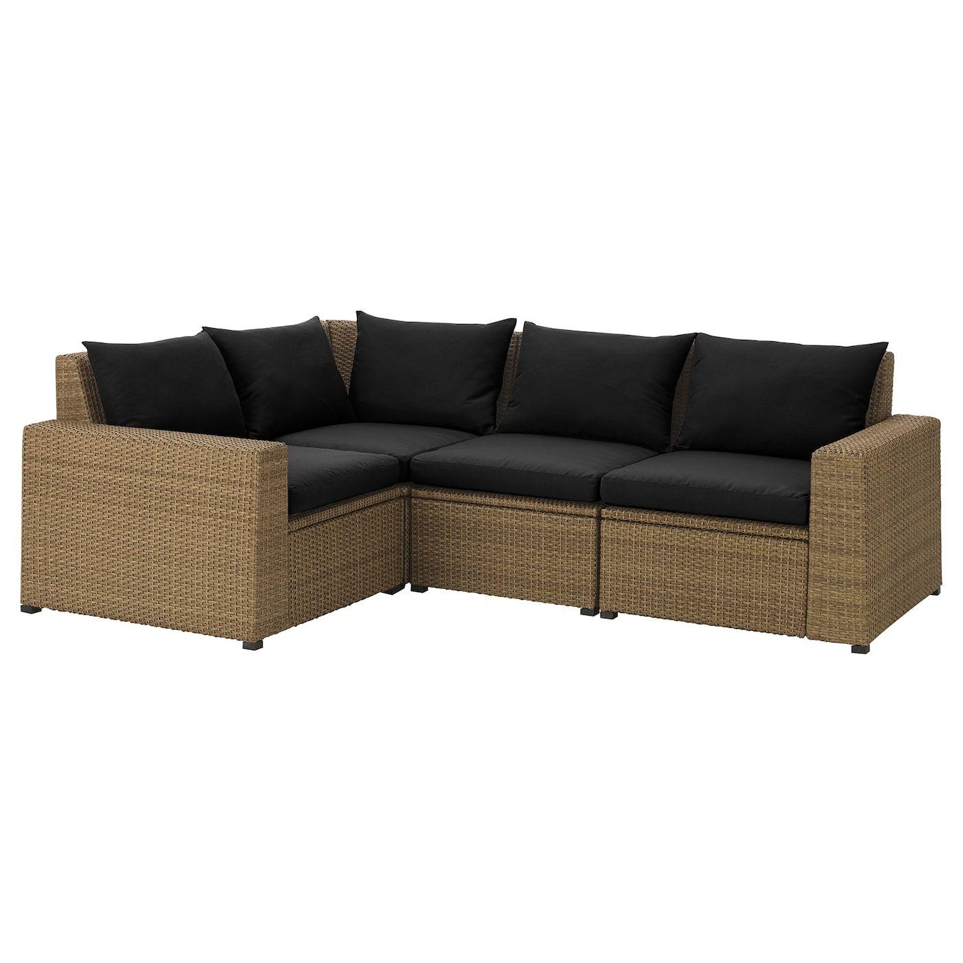 Best Ikea Solleron Brown Hållö Black Modular Corner Sofa 3 640 x 480