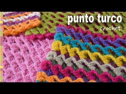 Punto turco a crochet: 1 hilera, reversible y 3D - Tejiendo Perú ...