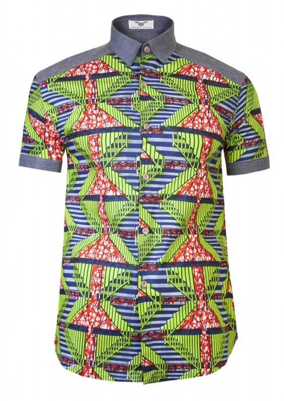 8700a829b0 8+ Ankara Shirt for Trendy Man - You will be blown away with this ...