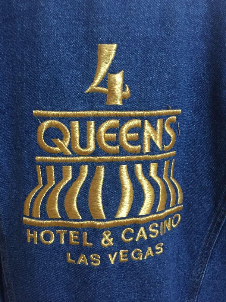Four Queens Men's Denim Jeanjacket Casino Hotel Las Vegas Blues 100 Cotton M | eBay