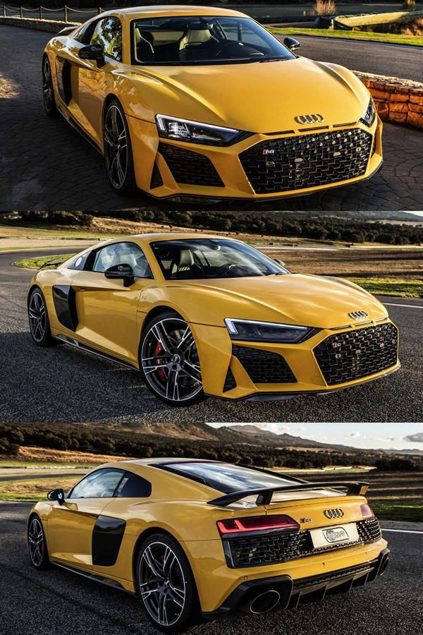 Pictures: Audi R8 V10 Performance Quattro Vegas Yellow #audir8
