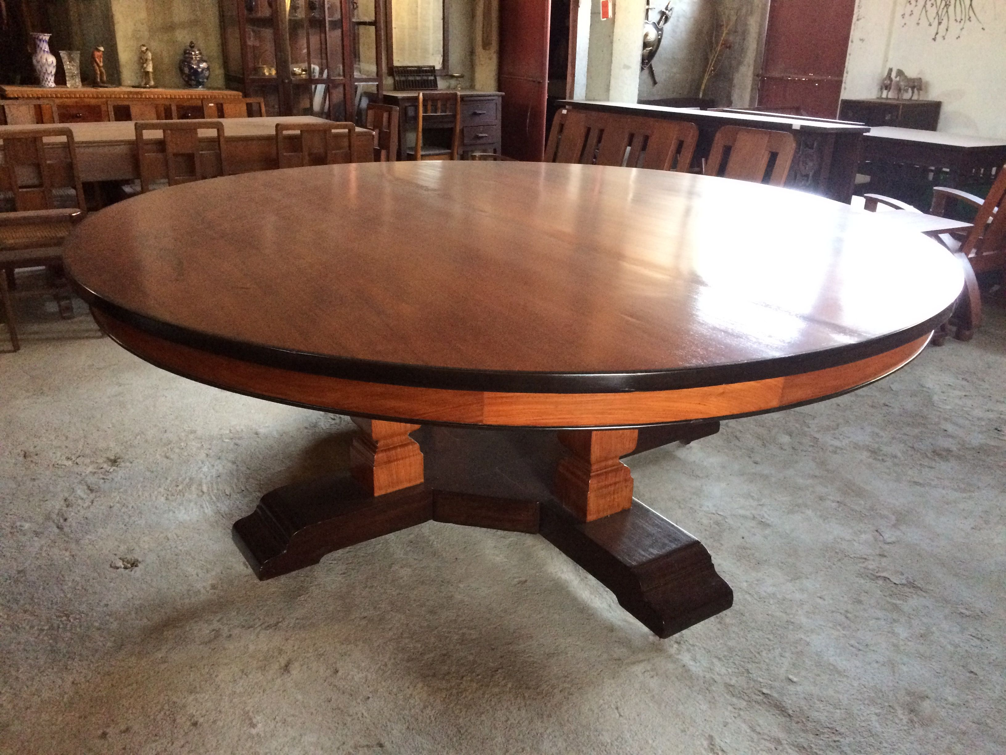 My Pre War 12 Seater Narra Kamagong Balayong Round Table 2 Piece Top 1 5 Inch Thickness Diameter 6 Table Dining Table Round Dining Table