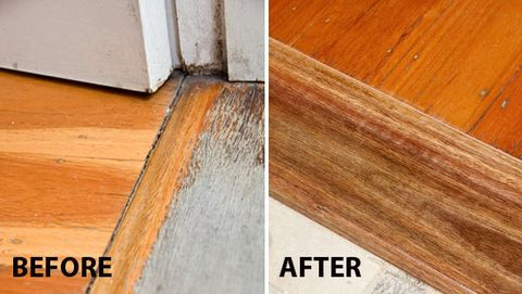 How To Fix Door Threshold Gap The Gap Between The Floor And Threshold Is A High Traffic Area In This Case The Floo Home Improvement Diy Home Repair Flooring
