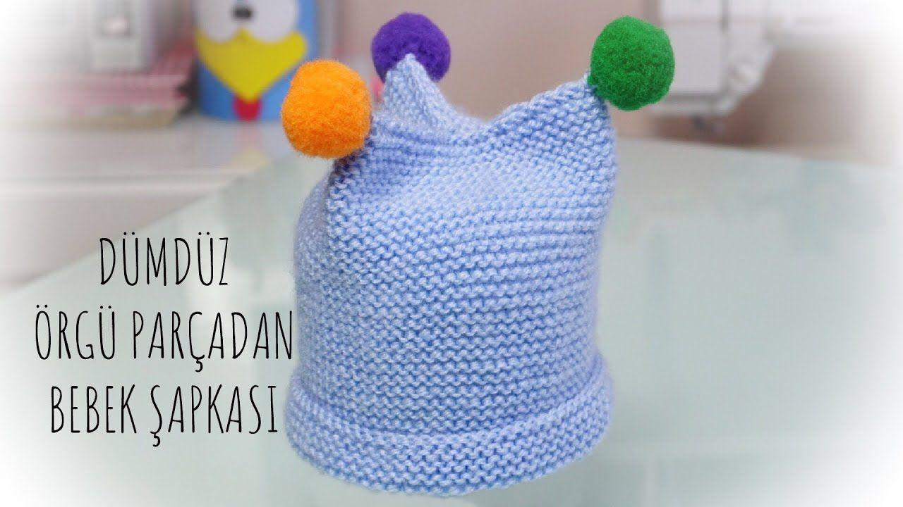 O kadar kolay ki bayılacaksınız / Örgü Bebek şapkası / en kolay örgü mod... #dollhats