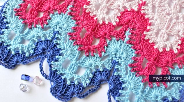 MyPicot | Free crochet patterns, Crochet wave lace | haken patronen ...