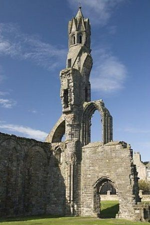 St Andrews Cathedral, Fife, Scotland.Built 1158 & was center of Medieval Catholic Church in Scotland. Fell into disuse & ruin after Catholic mass was outlawed during the 16th-century Scottish Reformation.