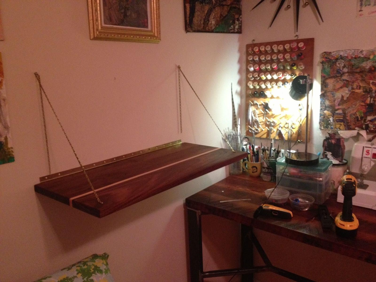 Fold Down Desktop   For Sewing Table, Or Standing Desk