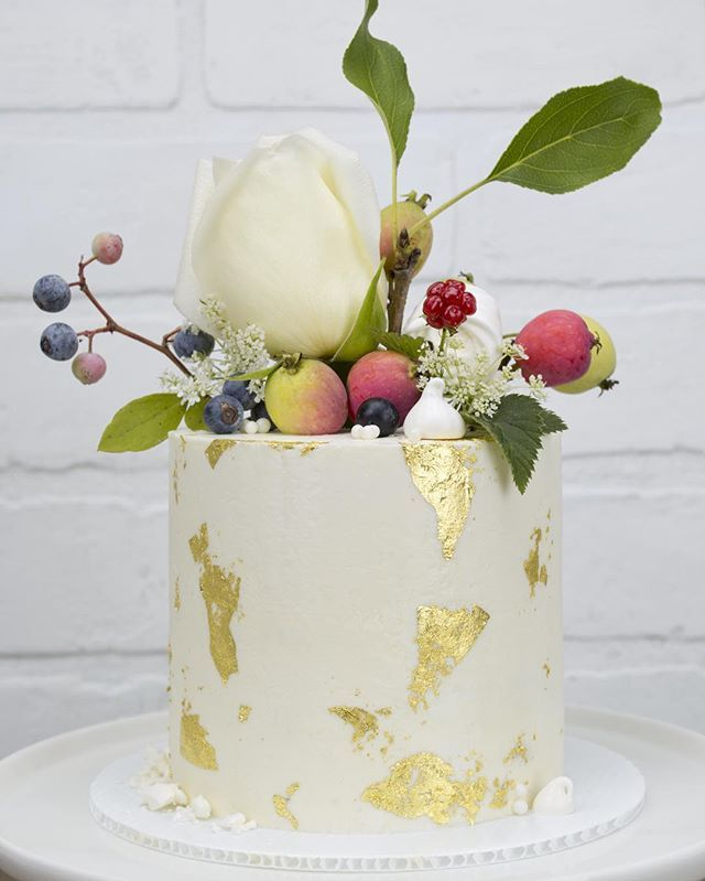 Summer's bounty cake. When the flowers turn to fruit they still make a lovely…