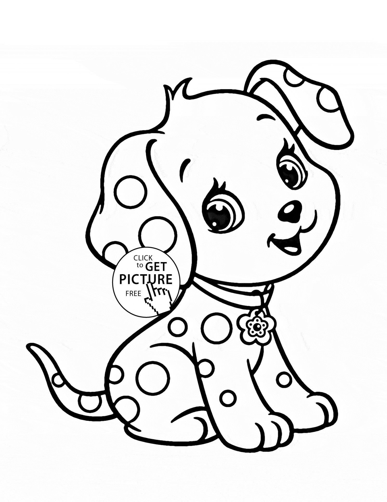 Online Puppy Coloring Pages