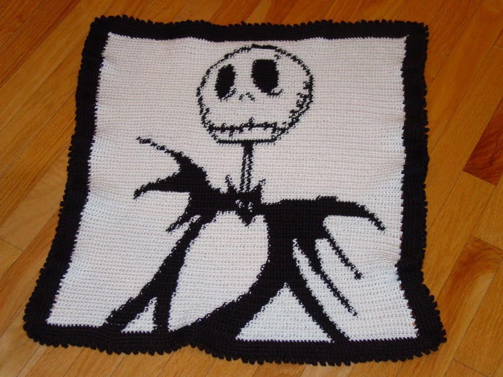 Jack Skellington Crochet Blanket Pattern Jack Skellington Baby ...