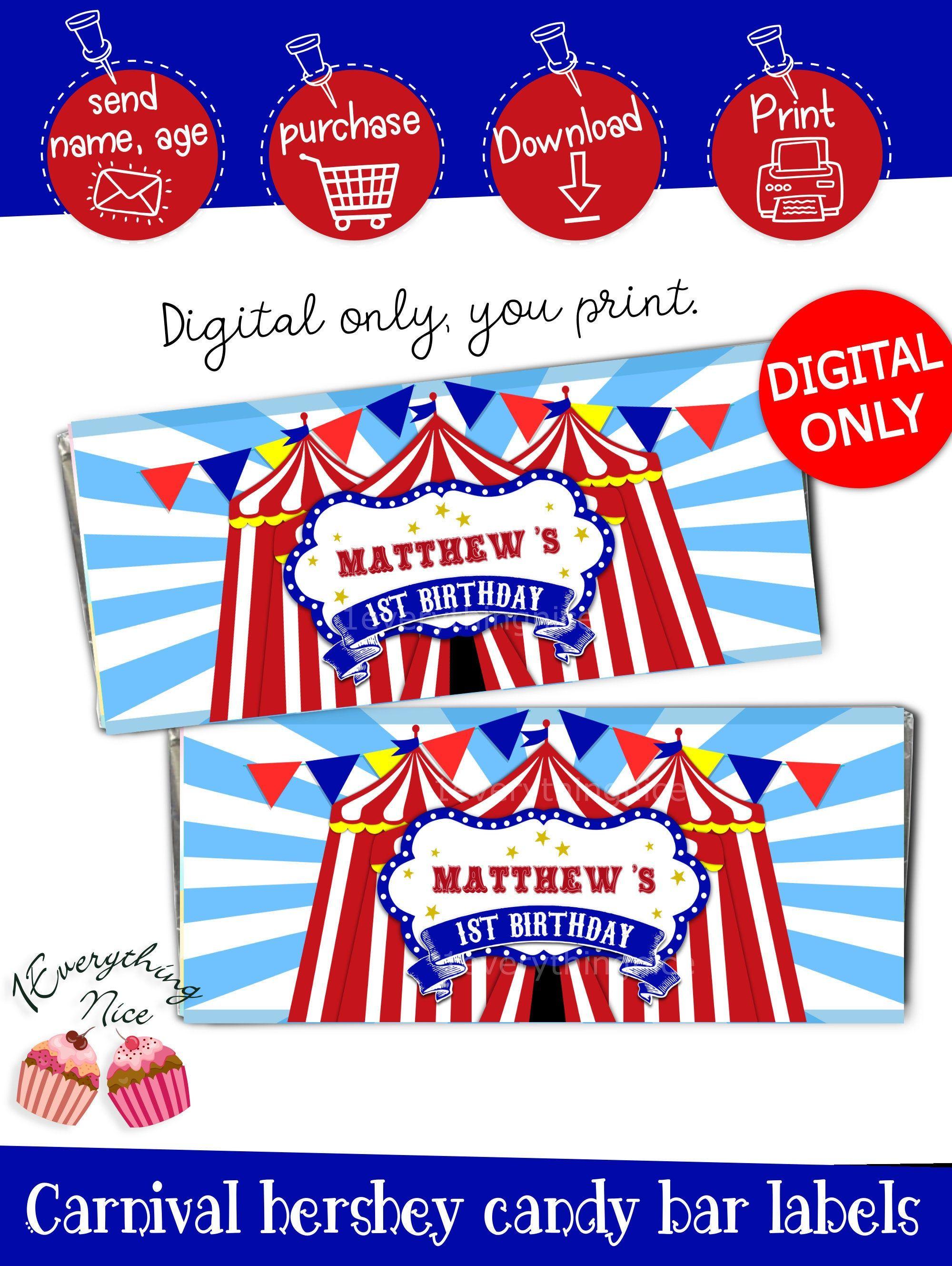 Digital Download Carnival Candy Chocolate Hershey Bar