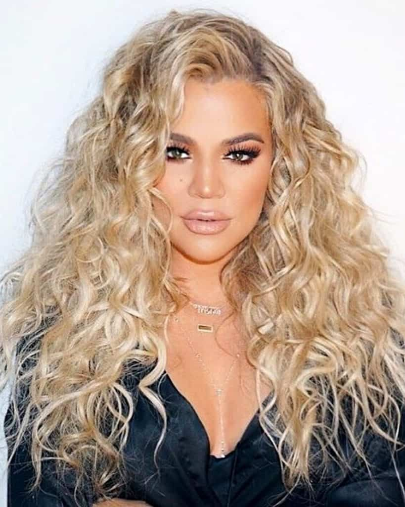 khole kardashian - two tone deep curly - custom celebrity