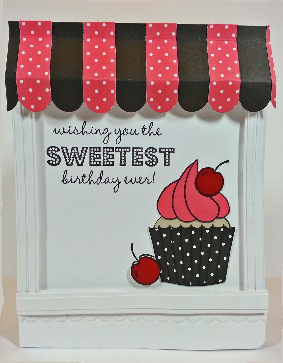 Cupcake birthday card idea