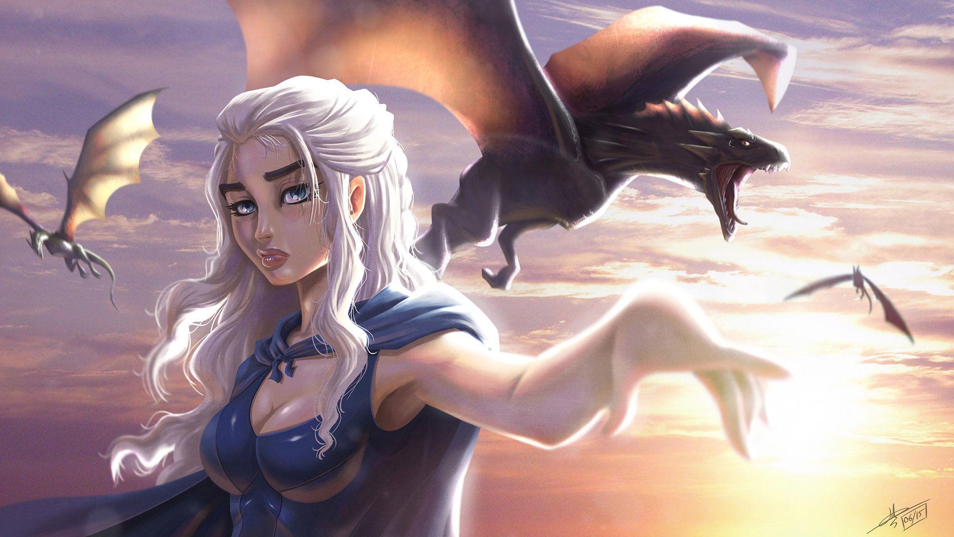 Daenerys targaryen and khal drogo wallpaper daenerys targaryen wedding - Artstation Daenerys Targaryen Mother Of Dragons Hydriss David Lenormand