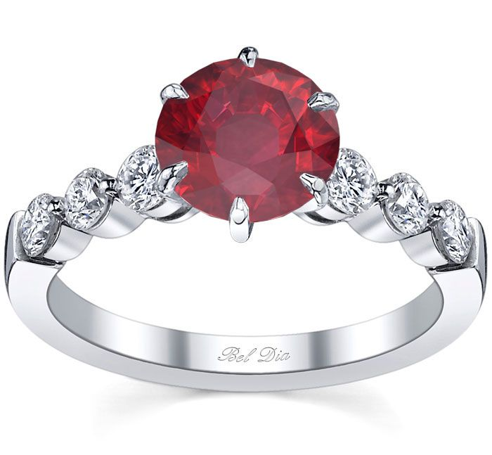 Array - engagement ring with round ruby   birthstone engagement      rh   pinterest com