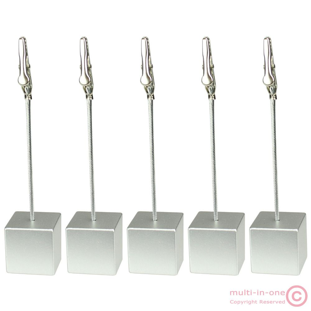 Lot Pcs Silver Cube Wire PicutreNoteCardMemo ClipPhoto Holder