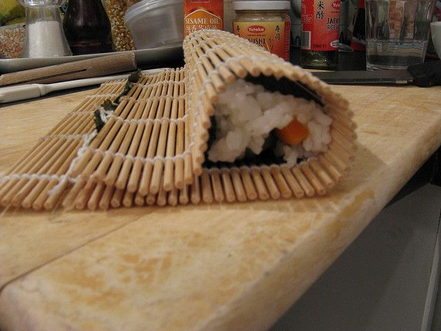 Veg Kimbap/Sushi rolls 5 by NoSoma, via Flickr