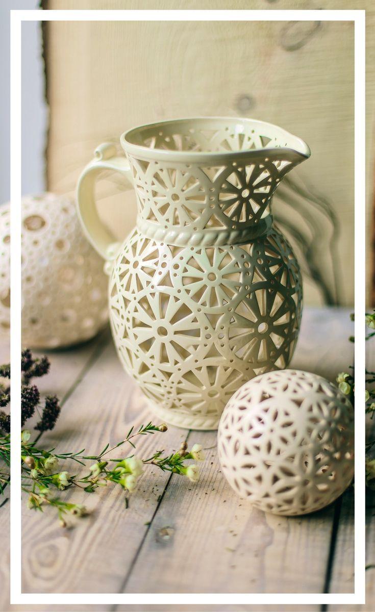 Wedding table decor, ceramic centerpiece. #lantern #wedding #table ...