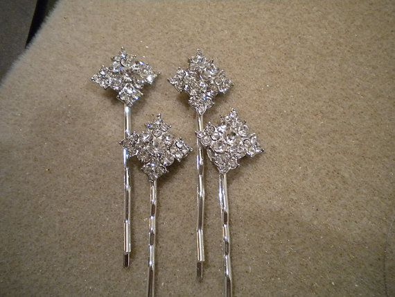 Wedding Hair Pin Diamond Shape Rhinestone By Ohmyliferocks On Etsy 28 00