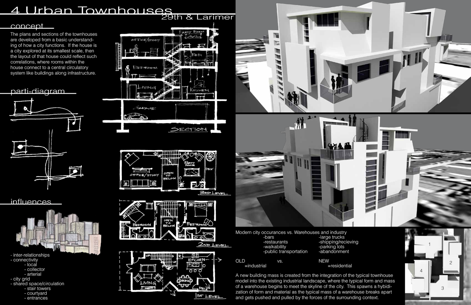 Architecture Presentation Layout Black And White