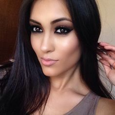 Love This Look Brown Eyes Black Hair Black Smokey Eye Makeup Smokey Eye For Brown Eyes