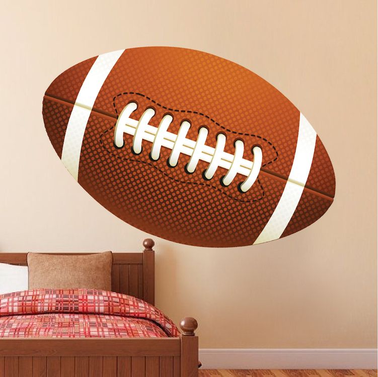 Large Football Wallpaper Graphic Wall decals for bedroom