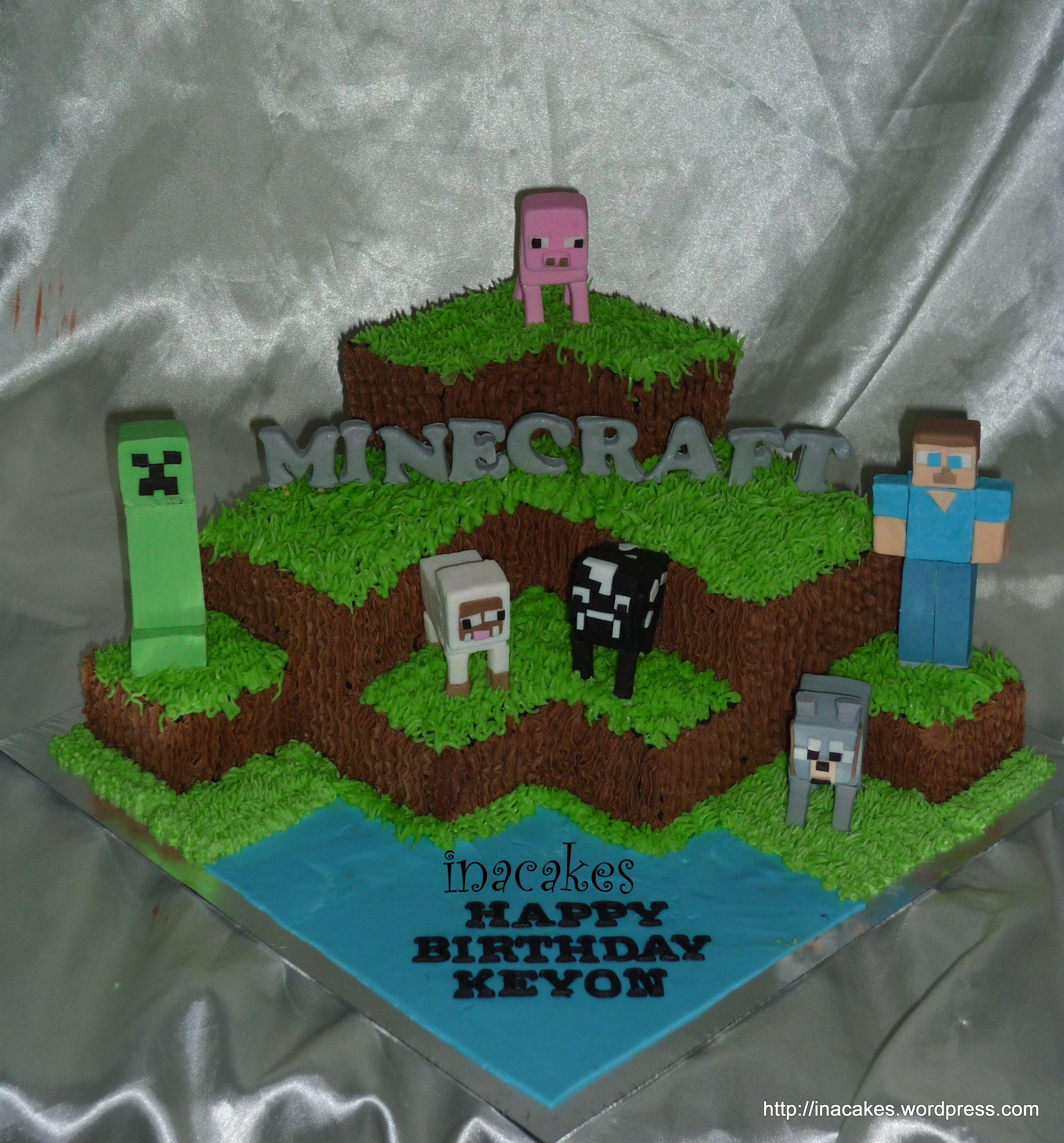 Minecraft Cake Minecraft In A Cake 4 Cakes Pinterest