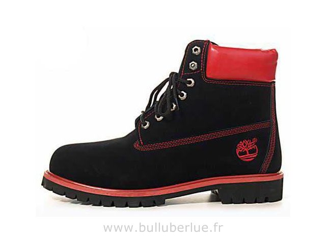 timberland homme noir et rouge