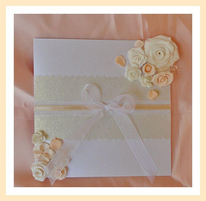 Manualidades tarjeta de invitaci n elegante para tu boda - Manualidades para una boda ...