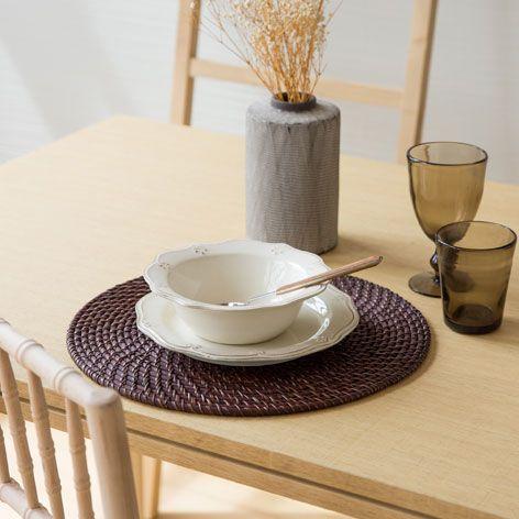 Individual palha redondo individuais mesa zara home portugal c h o m e pinterest - Zara home portugal ...