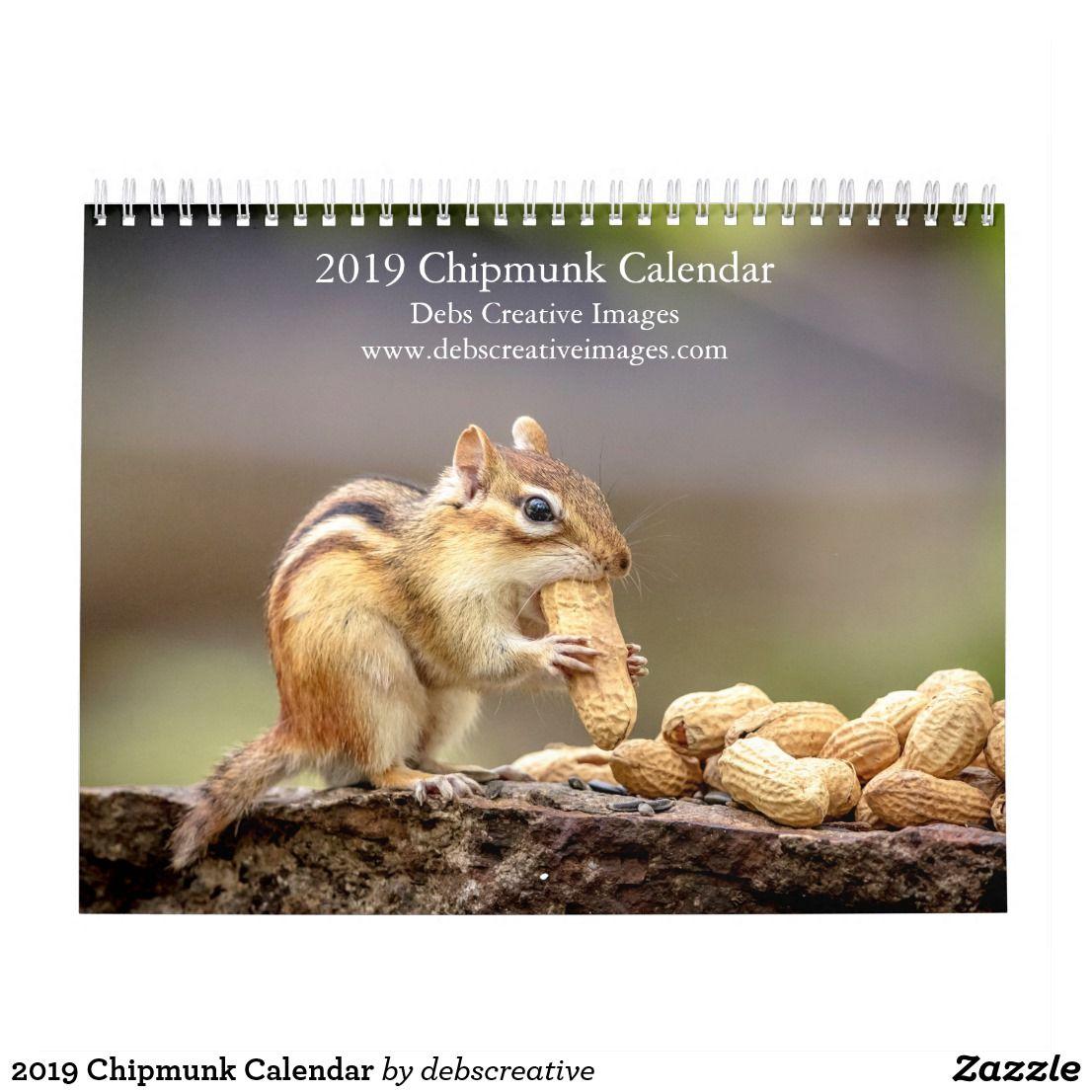2019 chipmunk calendar chipmunks custom holiday card